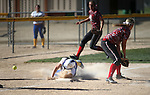 Wildcat's Kacie Freudenberger dives into third base against Colorado Northwestern at Edmonds Sports Complex Carson City, Nev., on Friday, April 17, 2015.<br /> Photo by Cathleen Allison
