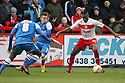 Lucas Akins of Stevenage attacks. Stevenage v Leyton Orient - npower League 1 -  Lamex Stadium, Stevenage - 2nd February, 2013. © Kevin Coleman 2013.