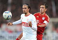 Fussball 1. Bundesliga:  Saison   2011/2012    16. Spieltag VfB Stuttgart - FC Bayern Muenchen  11.12.2011 Martin Harnik (li, VfB Stuttgart) gegen Philipp Lahm (FC Bayern Muenchen)