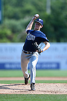 Kyle Marman (9) of Dr. Phillips High School in Orlando, Florida playing for the Tampa Bay Rays scout team during the East Coast Pro Showcase on August 2, 2014 at NBT Bank Stadium in Syracuse, New York.  (Mike Janes/Four Seam Images)