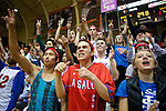 Mar 11, 2015; Portland, OR, USA; The La Salle Prep student body cheers after a Falcons' free throw against the Hermiston Bulldogs in the 5A Girls Basketball State Championship at Gill Coliseum.<br /> Photo by Jaime Valdez