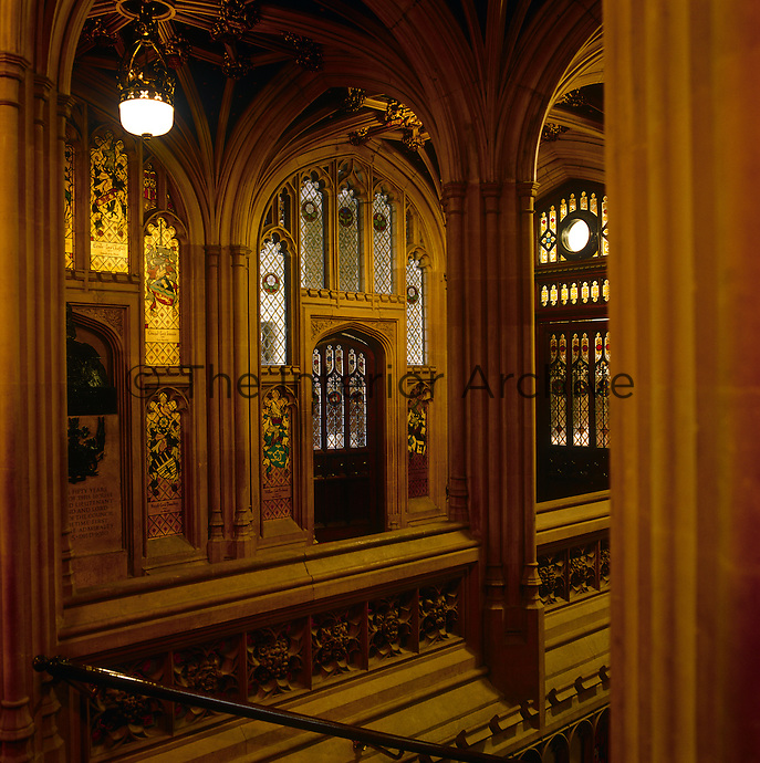 The main staircase, leading to the principal floor, impresses peers and visitors alike with the antiquity of the institution