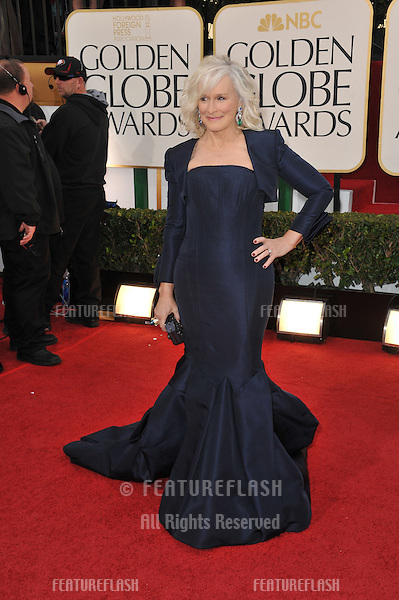 Glenn Close at the 70th Golden Globe Awards at the Beverly Hilton Hotel..January 13, 2013  Beverly Hills, CA.Picture: Paul Smith / Featureflash