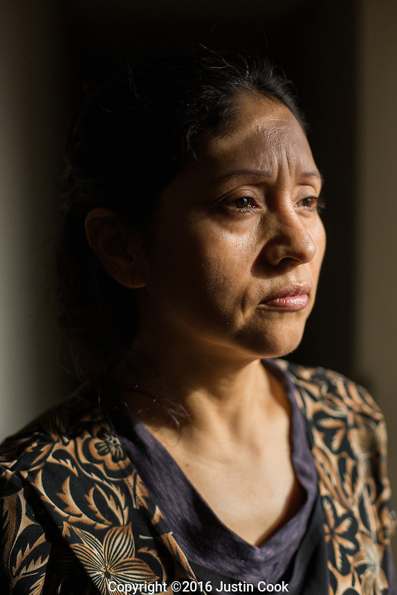 Portrait of immigrant María Pureco (CQ) at her home in Graham, NC on Friday, December 16, 2016. (Justin Cook for The New York Times)