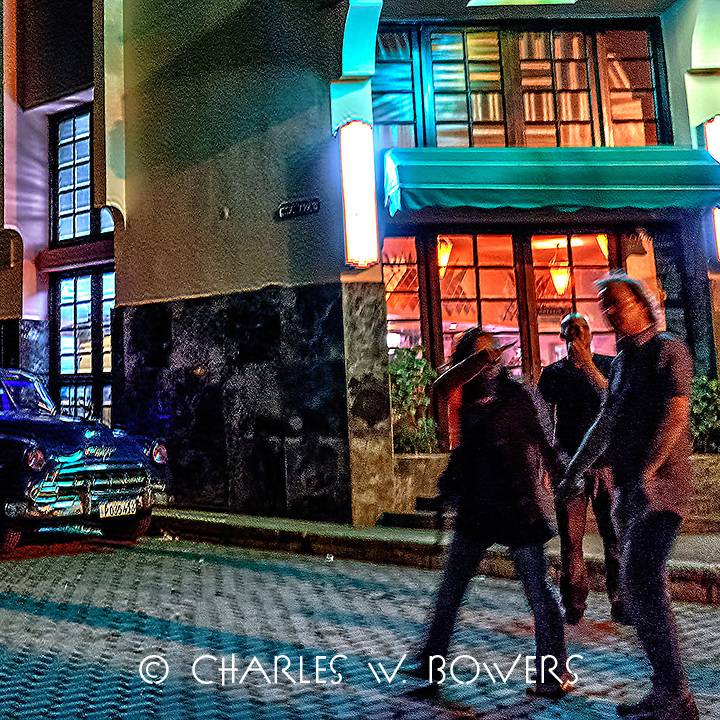 Faces Of Cuba - Heading Home in the blue Chevy after a night out.<br />
