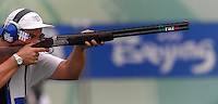 Giovanni Pellielo medaglia d'argento.Beijing National Shooting all. Trap uomini..Pechino - Beijing 10/8/2008 Olimpiadi 2008 Olympic Games.Foto Andrea Staccioli Insidefoto