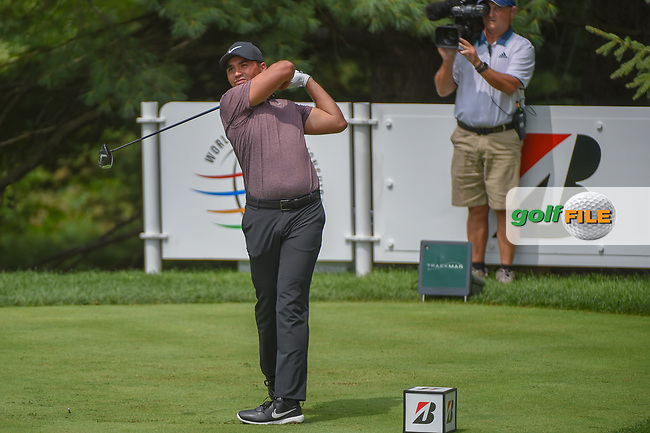 Jason Day (AUS) watches his tee shot on 2 during 2nd round of the World Golf Championships - Bridgestone Invitational, at the Firestone Country Club, Akron, Ohio. 8/3/2018.<br /> Picture: Golffile | Ken Murray<br /> <br /> <br /> All photo usage must carry mandatory copyright credit (© Golffile | Ken Murray)