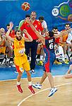"in action during European basketball championship ""Eurobasket 2013"" semifinal basketball game between Spain and France in Stozice Arena in Ljubljana, Slovenia, on September 20. 2013. (credit: Pedja Milosavljevic  / thepedja@gmail.com / +381641260959)"