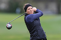 Moa Fridell (SWE) on the 15th tee during Round 1 of the Irish Girls U18 Open Stroke Play Championship at Roganstown Golf &amp; Country Club, Dublin, Ireland. 05/04/19 <br /> Picture:  Thos Caffrey / www.golffile.ie