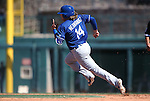 Los Angeles Dodgers' Kike Hernandez runs the bases in a spring training game in Glendale, Ariz., on Saturday, March 19, 2016. <br />
