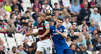 Joao Mario of West Ham and Michael Keane of Everton during the Premier League match between West Ham United and Everton at the Olympic Park, London, England on 13 May 2018. Photo by Andy Rowland / PRiME Media Images.