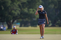 Jeongeun6 Lee (KOR) tips her hat to the roar of the crowd as she steps on the green on 18 during round 4 of the 2019 US Women's Open, Charleston Country Club, Charleston, South Carolina,  USA. 6/2/2019.<br /> Picture: Golffile | Ken Murray<br /> <br /> All photo usage must carry mandatory copyright credit (© Golffile | Ken Murray)