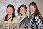 Elaine O'Donoghue, Rebecca Mulcahy and Michelle Fleming Killarney who modelled in the Muckross Rowing club fashion show in the Killarney Oaks Hotel on Thursday night
