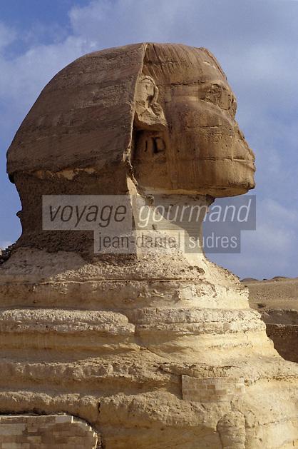 Afrique/Egypte/Env du Caire/Plateau de Giza: Le Sphinx de Giza