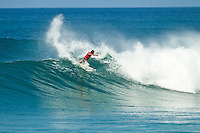 """LA GRAVIERE, Hossegor/France (Wednesday, October 5, 2011) Taj Burrow (AUS). - For the first time this season, the complete ASP Top 34, are in attendance for Event No. 8 of 11, the Quiksilver Pro France, which will commenced with Round 1 this morning at 9am...With a number of surfers sidelined with various injuries in the opening seven events of this season, France will host the first full incarnation of the ASP Top 34 this year, and they enjoyed clean three-to-four foot (1.5 metre) waves on offer at the primary site of La Graviere this morning and throughout the day...""""Waves have increased significantly today and we have rippable three-to-four foot (1.5 metre) waves pulsing through at Graviere this morning,"""" Rich Porta, ASP International Head Judge said. """"Round 1 of competition will kick off at 9am and we intend to push right through the midday high tide. We'll continue to monitor conditions throughout the day, but Round 2 is on standby for a possible start this afternoon."""".Three heats of Round Two were completed with the big upset of the day , the loss of Joel Parkinson to wildcard Ramzi Boukhiam for Morroco.. Photo: joliphotos.com"""