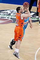 Valencia Basket Club's Rafa Martinez (l) and Asefa Estudiantes' Kyle Kuric during Spanish Basketball King's Cup match.February 07,2013. (ALTERPHOTOS/Acero) /NortePhoto
