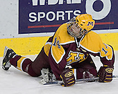 Justin Bostrom - The University of Minnesota Golden Gophers defeated the University of North Dakota Fighting Sioux 4-3 on Friday, December 9, 2005, at Ralph Engelstad Arena in Grand Forks, North Dakota.