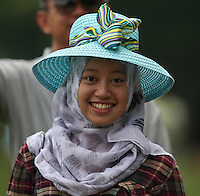 The Easter Bonnet on display during the Final Round of the 2014 Maybank Malaysian Open at the Kuala Lumpur Golf & Country Club, Kuala Lumpur, Malaysia. Picture:  David Lloyd / www.golffile.ie