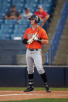 Steven Williams (21) of Deerfield-Windsor High School in Albany, Georgia playing for the Baltimore Orioles scout team during the East Coast Pro Showcase on August 3, 2016 at George M. Steinbrenner Field in Tampa, Florida.  (Mike Janes/Four Seam Images)