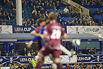 Everton 3 Larissa 1, 25/10/2007. Goodison Park, Europa League Group A. Corporate guests and directors watch on from the main stand as Everton take on AE Larissa at Goodison Park, Liverpool in their UEFA Cup Group A match. Everton beat the Greek team by three goals to one on the opening night of group matches in the UEFA Cup. It was the first meeting between the two clubs. Photo by Colin McPherson.