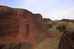 Golan Heights, Skoria rock quarry on Mount Odem