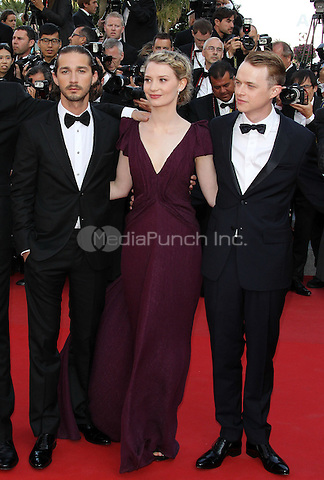 ../Shia LaBeouf, Mia Wasikowska and Dane Dehaan attend the 'Lawless' Premiere attends the 'Lawless' Premiere during the 65th Annual Cannes Film Festival at Palais des Festivals on May 19, 2012 in Cannes, France.  .. / Mediapunchinc
