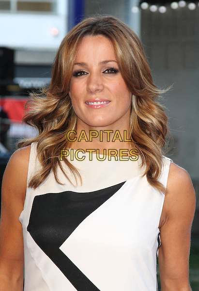 Natalie Pinkham<br /> The World Premiere of 'Rush' at the Odeon Leicester Square, London, England.<br /> September 2nd, 2013<br /> half length black white sleeveless headshot portrait <br /> CAP/ROS<br /> &copy;Steve Ross/Capital Pictures