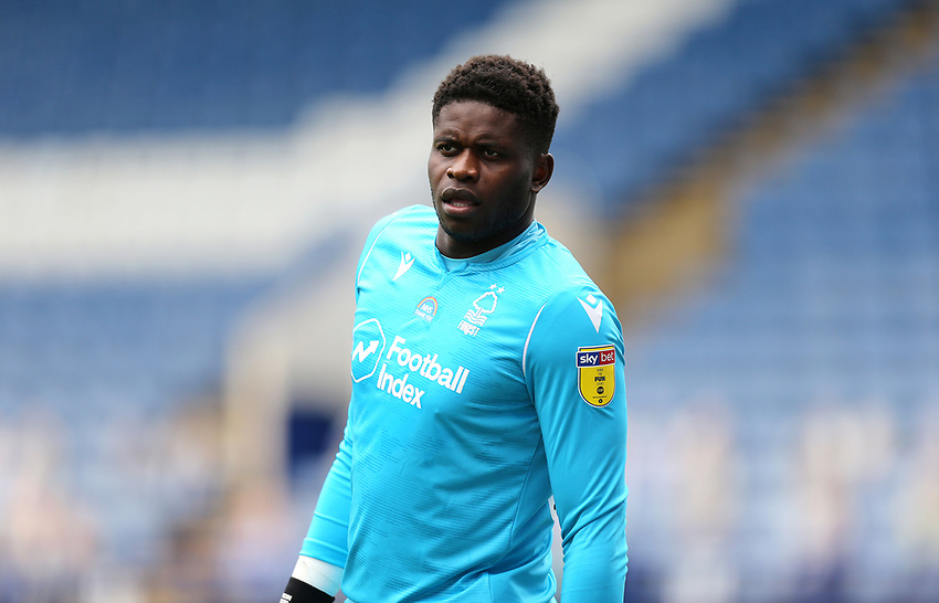 Nottingham Forest's Brice Samba <br /> <br /> Photographer Rich Linley/CameraSport<br /> <br /> The EFL Sky Bet Championship - Sheffield Wednesday v Nottingham Forest - Saturday 20th June 2020 - Hillsborough - Sheffield <br /> <br /> World Copyright © 2020 CameraSport. All rights reserved. 43 Linden Ave. Countesthorpe. Leicester. England. LE8 5PG - Tel: +44 (0) 116 277 4147 - admin@camerasport.com - www.camerasport.com