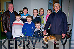 TOP DOG: Michael Boland (Dingle) with his winning dog Ask Larry and his family and friends at Kingdom Greyhound Stadium, Tralee on Friday night. Front l-r: Michael & Sean Boland (Dingle). At back is Michael (snr), Stephen and Liam Boland (Dingle), Stephen, Katie and Marie Nix with Anthony Slattery (Listellick).