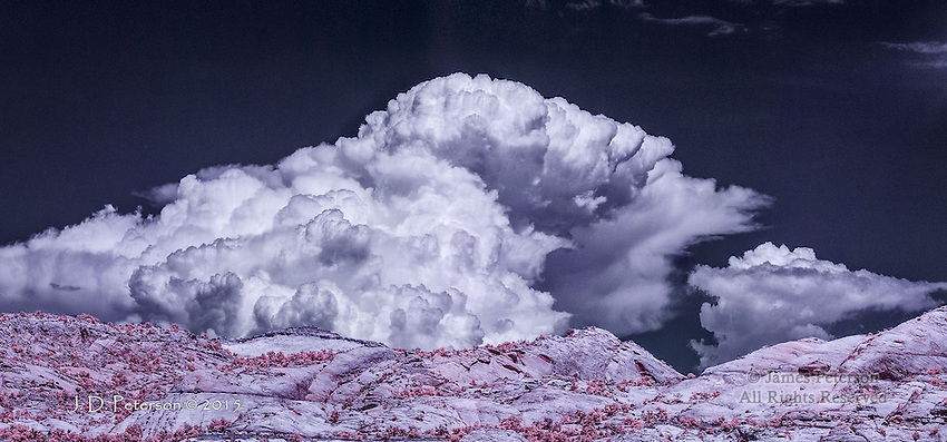Monsoon Storm over Escalante Canyon, Utah (Infrared)