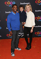 08 November 2017 - Hollywood, California - Alfonso Ribeiro, Alfonso Lincoln Ribeiro, Jr., Angela Unkrich. Disney Pixar's &quot;Coco&quot; Los Angeles Premiere held at El Capitan Theater. <br /> CAP/ADM/FS<br /> &copy;FS/ADM/Capital Pictures
