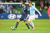 3rd November 2017, Melbourne Rectangular Stadium, Melbourne, Australia; A-League football, Melbourne City FC versus Sydney FC; Milos Ninkovic of Sydney FC kicks the ball