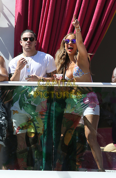 29 May 2016 - Las Vegas, Nevada - Casper Smart, Jennifer Lopez.  Jennifer Lopez Makes Drai&rsquo;s Las Vegas Hosting Debut at CARNIVAL DEL SOL at Drai&rsquo;s Beachclub at the Cromwell.  <br /> CAP/ADM/MJT<br /> &copy; MJT/ADM/Capital Pictures