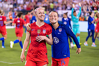 PHILADELPHIA, PA - AUGUST 29: Becky Sauerbrunn #4 and Emily Sonnett #14 of the United States pose during a game between Portugal and the USWNT at Lincoln Financial Field on August 29, 2019 in Philadelphia, PA.