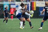 Allston, MA - Sunday July 17, 2016: Eunice Beckmann, Raquel Rodriguez during a regular season National Women's Soccer League (NWSL) match between the Boston Breakers and Sky Blue FC at Jordan Field.