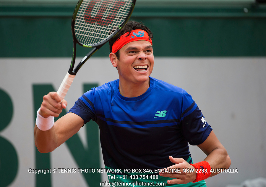 MILOS RAONIC (CAN)<br /> <br /> TENNIS - FRENCH OPEN - ROLAND GARROS - ATP - WTA - ITF - GRAND SLAM - CHAMPIONSHIPS - PARIS - FRANCE - 2016  <br /> <br /> <br /> <br /> &copy; TENNIS PHOTO NETWORK