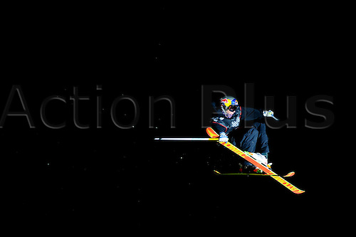28.10.2011 London, England. A skier in action during the Final of the International Freeski Big Air Competition at the Relentless Energy Drink Freeze Festival at Battersea Power Station. Mandatory credit: ActionPlus