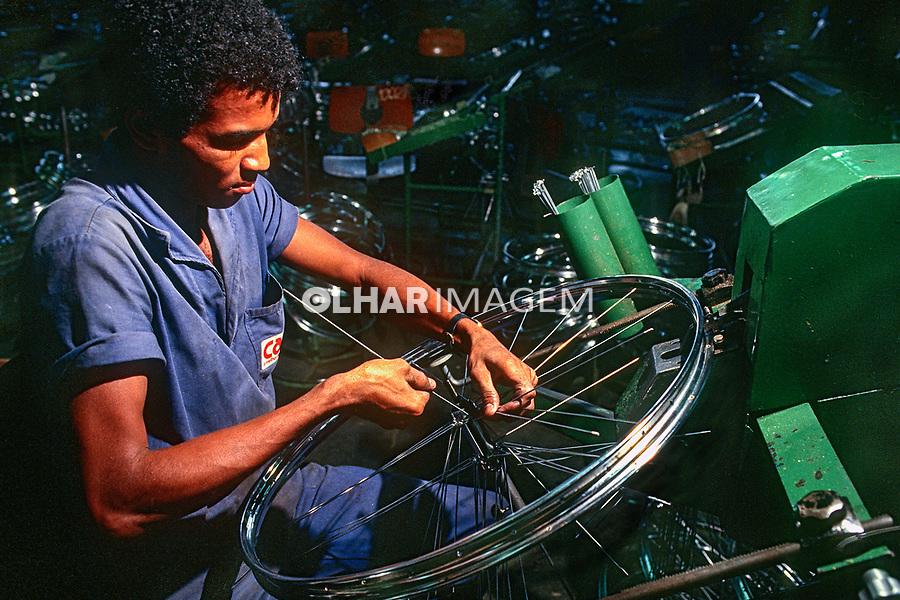 Industria de bicicletas Caloi, Sao Paulo. 1983. © Juca Martins.