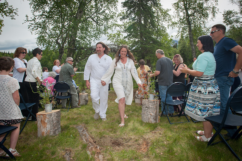 Wedding of Brandi Lttle and Bud at Eklutna July 1, 2017.
