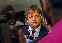 CURITIBA, PR, 18.11.2014 - LAVA-JATO / POLICIA FEDERAL/ CURITIBA -   Edson Silvestrin, advogado dos executivos da IESA, preso durante a sétima fase da operação Lava-Jato que se encontra dentidos na sede da Policia Federal  em Curitiba ,na manhã desta terça-feira(17).(Foto: Paulo Lisboa / Brazil Photo Press)