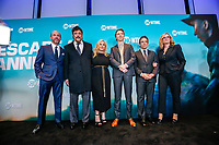 "NEW YORK - NOVEMBER 14: Eric Lange, Benicio Del Toro, Patricia Arquette, Paul Dano, Ben Stiller and Bonnie Hunt attend the premiere of Showtime's limited series ""Escape at Dannemora"" at Alice Tully Hall in Lincoln Center on November 14, 2018 in New York City. (Photo by Kena Betancur/Showtime/PictureGroup)"