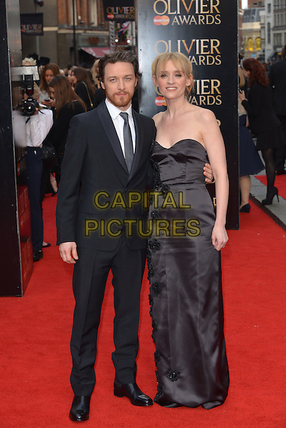 LONDON, ENGLAND - APRIL 12: James McAvoy and Anne-Marie Duff arrive at The Olivier Awards at The Royal Opera House on April 12, 2015 in London, England.<br /> CAP/PL<br /> &copy;Phil Loftus/Capital Pictures