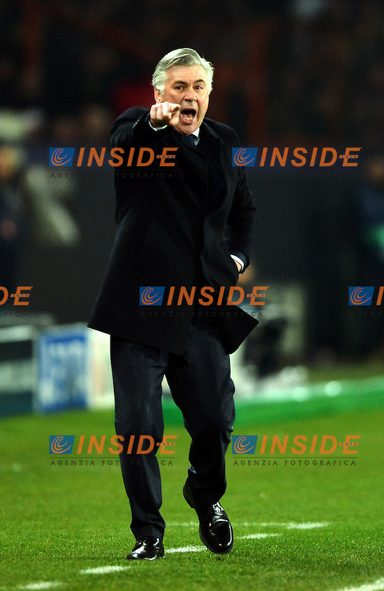 Carlo Ancelotti (psg) .Parigi 2/4/2013 .Calcio Champions League Quarti di Finale Andata.Paris Saint Germain Barcellona.Foto Panoramic / Insidefoto