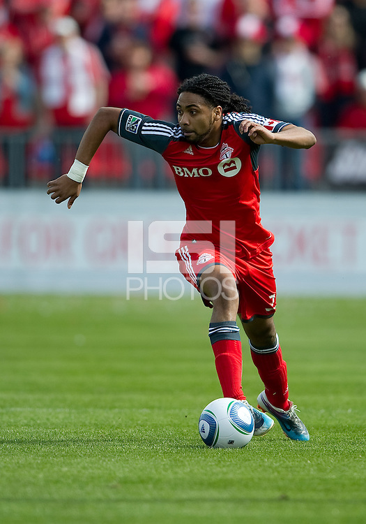23 April 2011: Toronto FC forward Javier Martina #33 in action during a game between the Columbus Crew and the Toronto FC at BMO Field in Toronto, Ontario Canada..The game ended in a 1-1 draw.