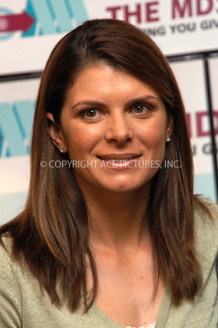 WWW.ACEPIXS.COM . . . . . ....NEW YORK, APRIL 15, 2005....U.S. Soccer Player Mia Hamm discusses bone marrow disease and calls for an increase in donorship at a conference held by the Myelodyplastic Syndrome's Foundation.....Please byline: KRISTIN CALLAHAN - ACE PICTURES.. . . . . . ..Ace Pictures, Inc:  ..Craig Ashby (212) 243-8787..e-mail: picturedesk@acepixs.com..web: http://www.acepixs.com