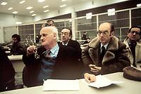 CIRILLO<br /> Morto Ciro Cirillo politico della DC rapito dalle Brigate Rosse nel 1981  e liberato dopo una presunta trattativa DC BR con la mediazione  di Cutolo <br /> Nella foto durante il processo <br /> foto AGN