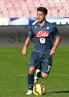 Dries Mertens    in action during the Italian Serie A soccer match between   SSC Napoli and Empolii    at San Paolo   stadium in Naples , December 07, 2014