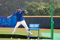17 August 2007: Team France coach Boris Rothermundt is seen in practice during the Good Luck Beijing International baseball tournament (olympic test event) at the Wukesong Baseball Field in Beijing, China.