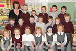 Newcomers: Fitting in to their new surroundings of St Bridget's National School, Duagh were the junior infants class pictured with teacher Mary Nolan on Monday. They were Aaron O'Flaherty, Austeja Liubinaite, Conor Teahan, Damien Moloney, Dara McGrath-Cremins, Donnacha Maher, Ella Morris, Ellie O'Connor, Evan Corridan, John McCarthy, Justin Cotter, Maria Duffy, Megan O'Brien, Micheal Daly, Oisin Moloney, Robert Rothery, Shane Flynn, Ted Moloney and Zara O'Donoghue.