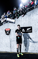 Jordie Barrett takes a selfie with fans after the Steinlager Series international rugby match between the New Zealand All Blacks and France at Westpac Stadium in Wellington, New Zealand on Saturday, 16 June 2018. Photo: Dave Lintott / lintottphoto.co.nz